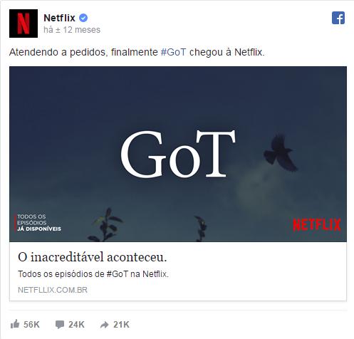 netflix Game of Thrones